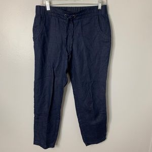 Athleta Blue Linen Pull On Pants